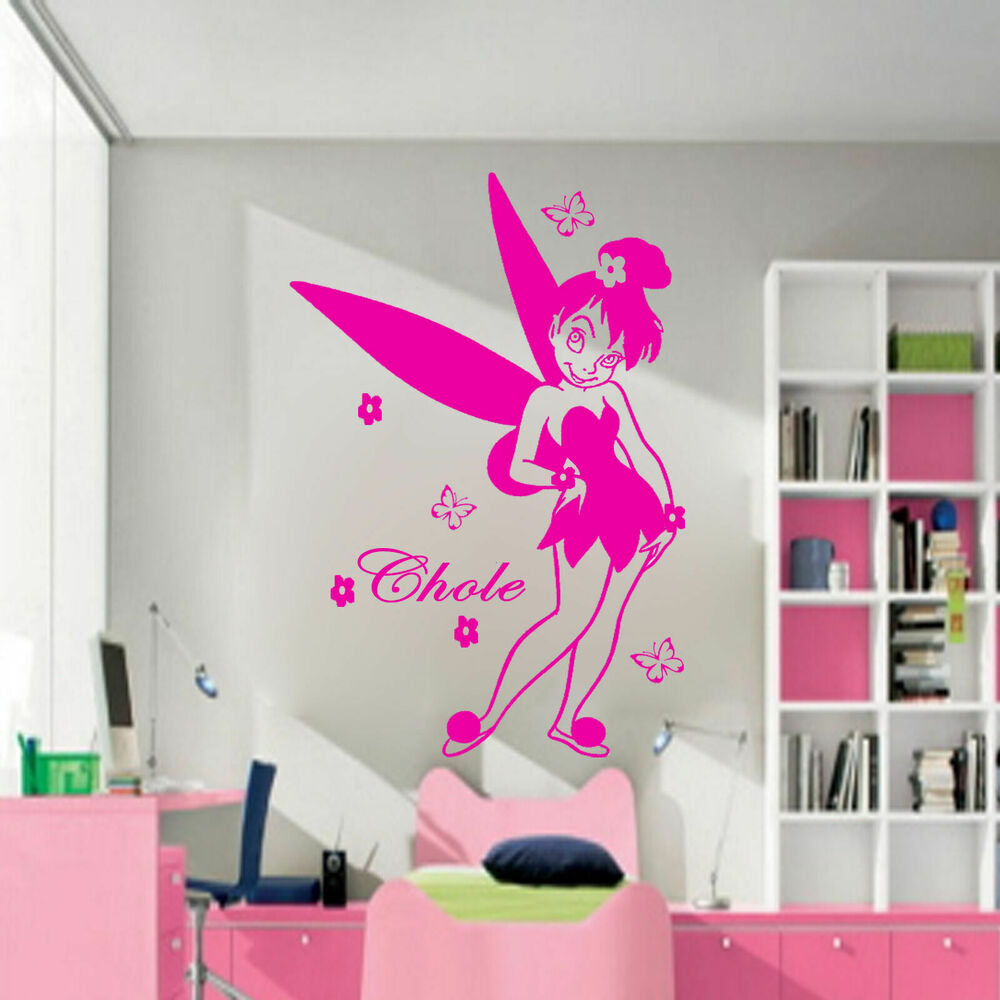 disney fairy tales personalized name vinyl wall art stickers nursery wall decals ebay. Black Bedroom Furniture Sets. Home Design Ideas