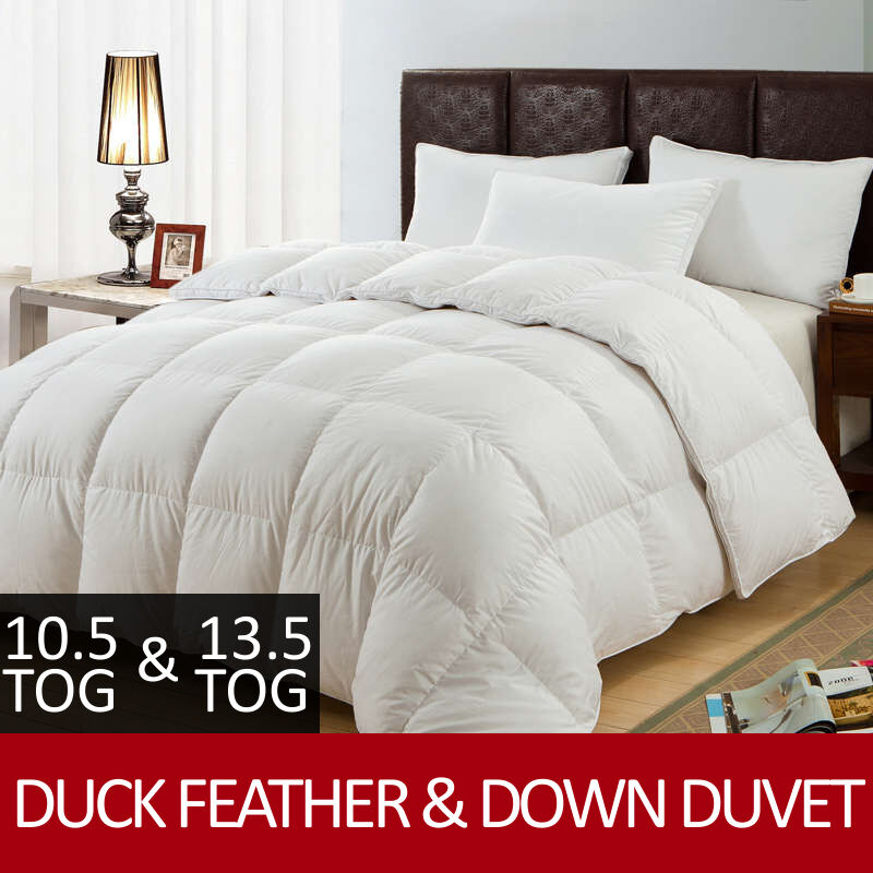 new luxury duck feather down duvet quilt all sizes 10. Black Bedroom Furniture Sets. Home Design Ideas