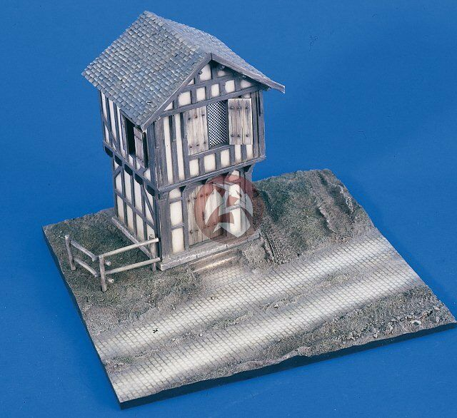 Verlinden 1 48 German Barn Front With Road Section Resin