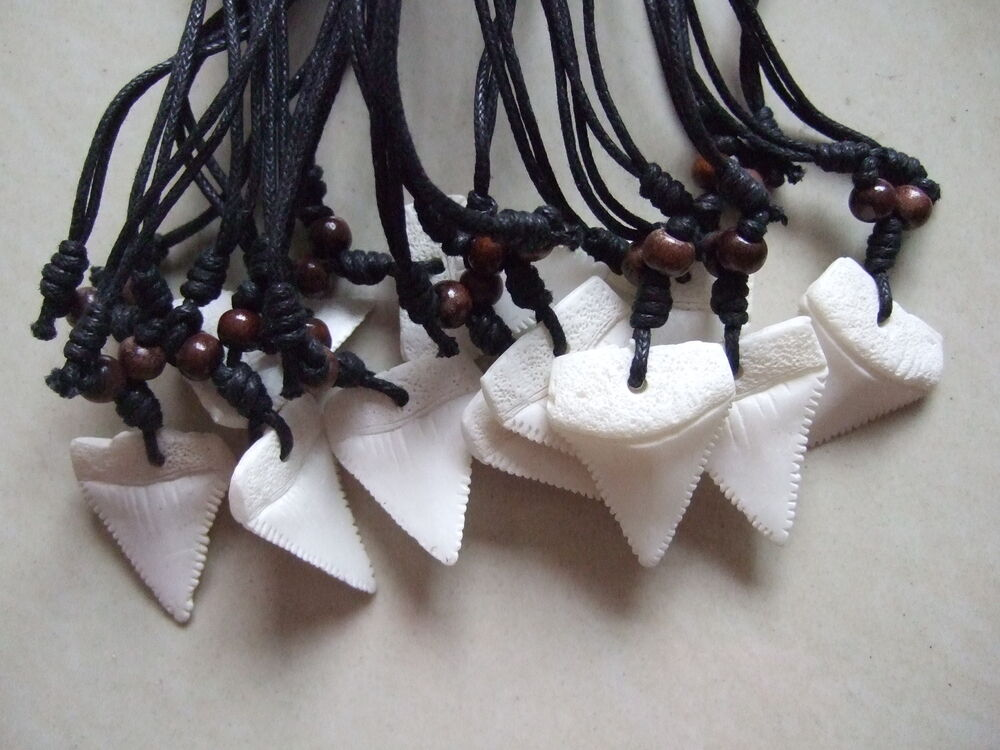 12pcs Favors Faux Shark Tooth Sharks Teeth Necklaces