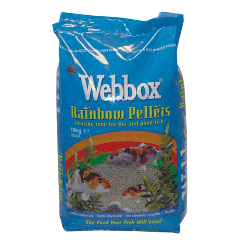 webbox 10kg economy rainbow koi fish food pond pellets 5mm