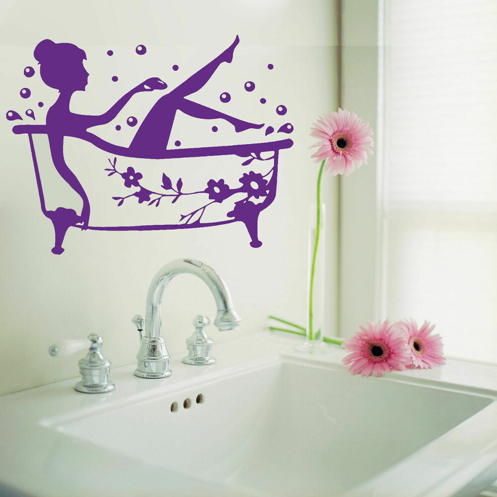 Bathroom Art Decal Bath Time Removable Vinyl Wall Sticker ...