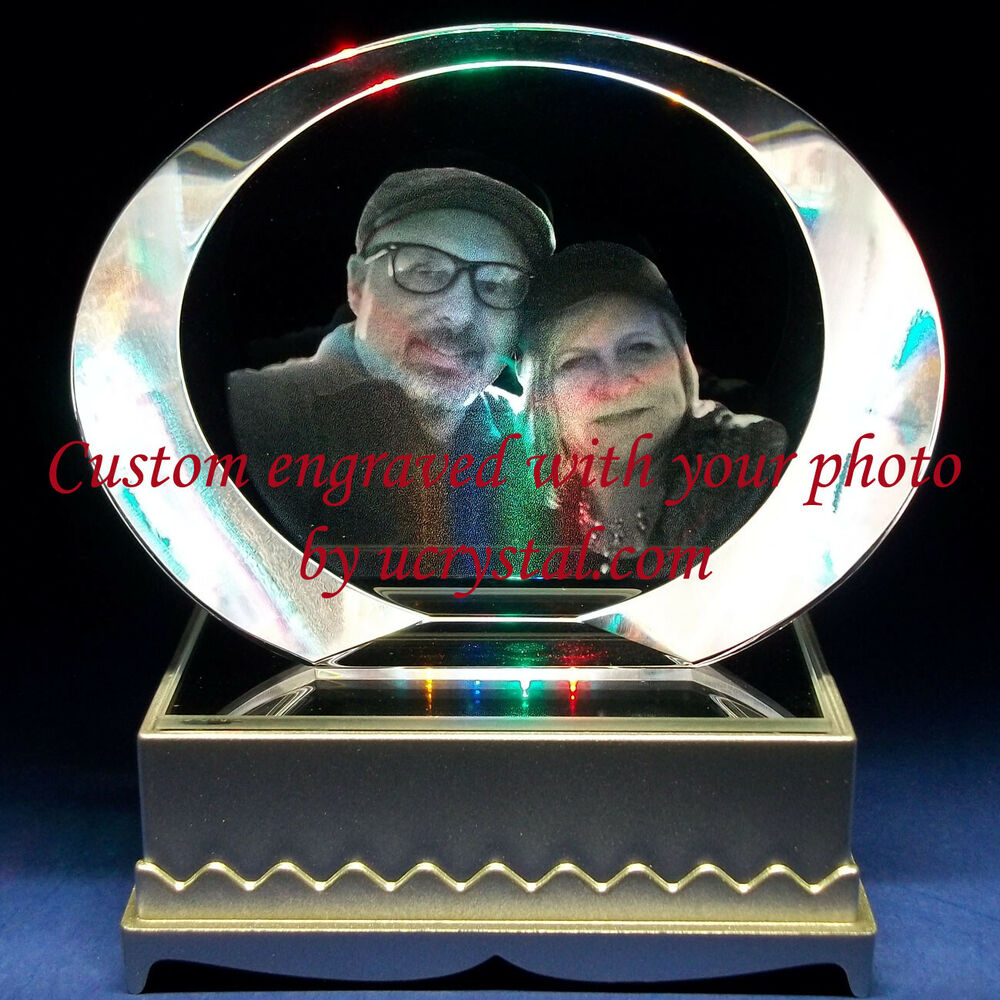 Personalized Custom Laser Etched Engraved Photo Crystal