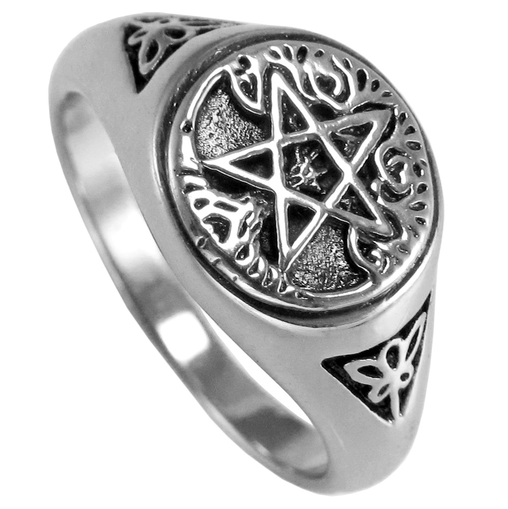 Pentacle Ring Sterling Silver