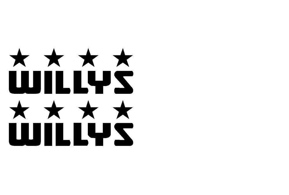 willys willy s jeep decals u.s. army stickers wrangler ...