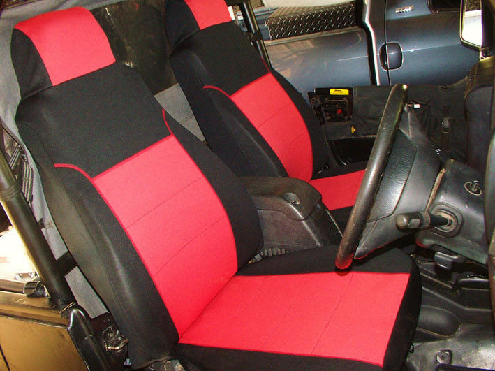 Neoprene Jeep Seat Covers >> Jeep Wrangler TJ 2005 Neoprene Full Set Custom Fit Seat ...