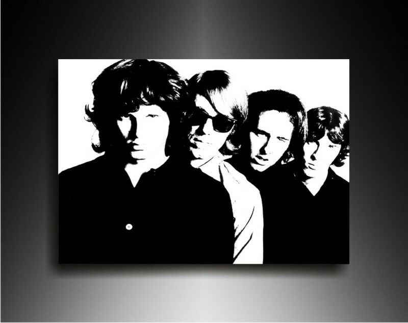 bild auf leinwand the doors jim morrison kunstdrucke. Black Bedroom Furniture Sets. Home Design Ideas