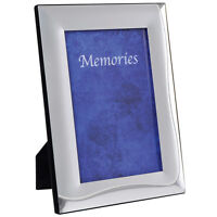 """SECONDS Metal Silver Plated Photo Frame Picture Frames New - Wave Edge 5 x 7"""""""
