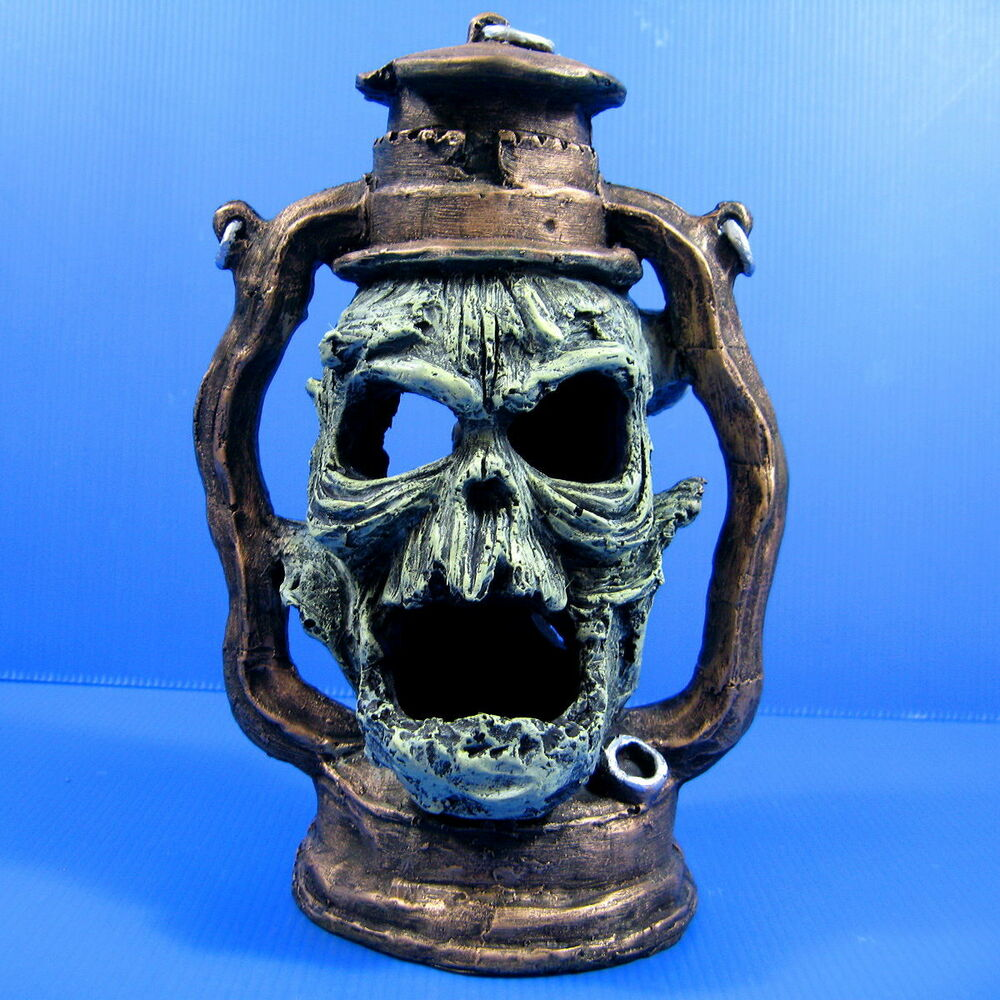 Devil Oil Lamp Skull cave 17x12.5x25cm Decoration Aquarium fish tank ...