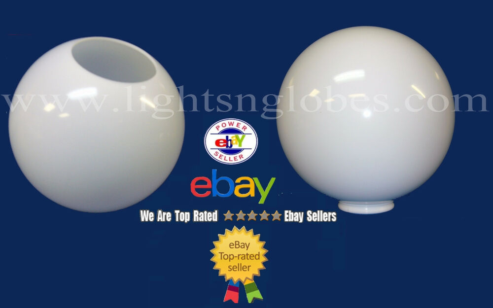 12 Quot White Acrylic Plastic Globe Outdoor Lighting Post Pole