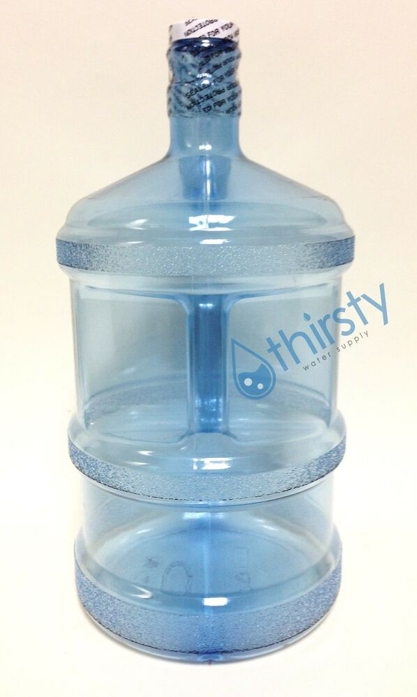 3 Gallon Bottle Drinking Water Polycarbonate Long Aqua H2o
