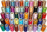 50 Spools of Rayon Machine Embroidery Thread Spools *50 Assorted Colours
