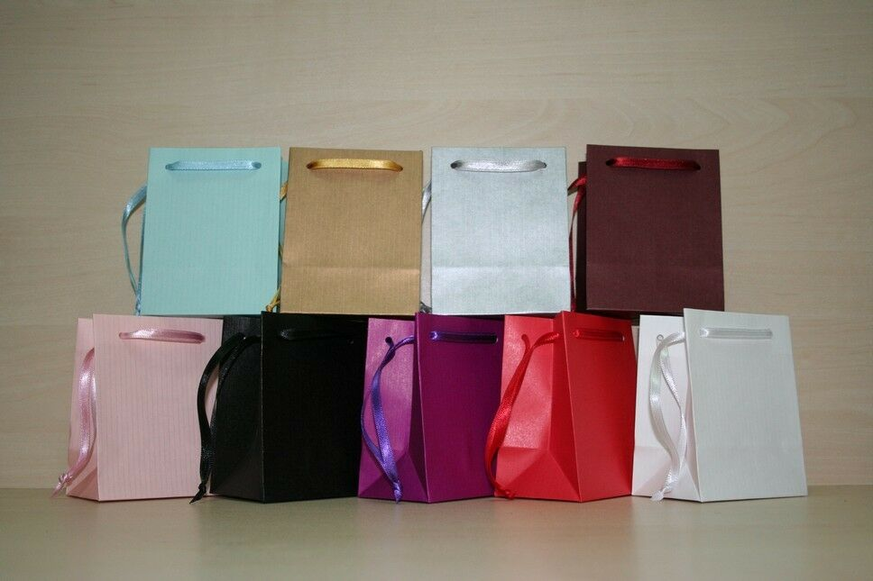 Extra Small Paper Gift Bags Pink White Black Gold Silver