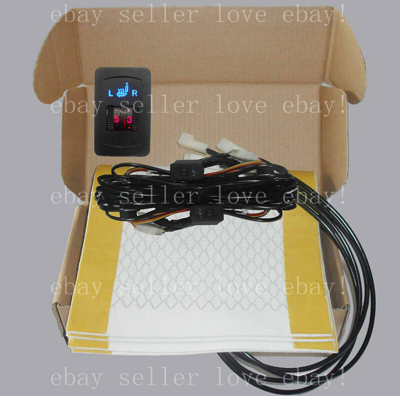 Universal Car Heated Seat Kit 2 Dial 5 Level Switch Seat: Heated Seat,2 Seats Install,dual Dial Switch Seat Heater