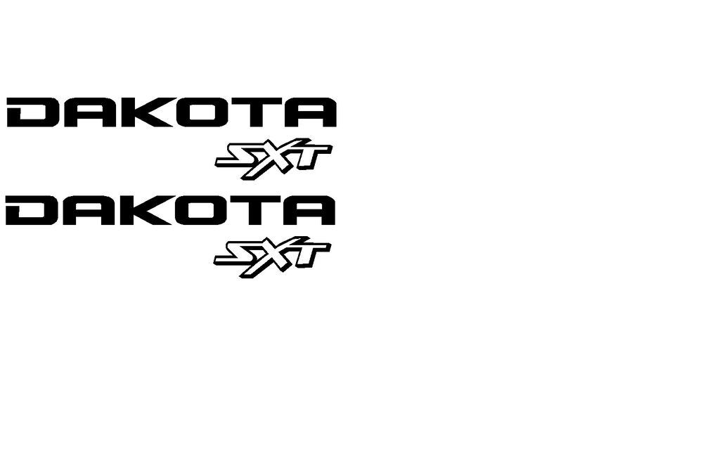 Dodge Dakota Sxt Decals 4x4 Pair Any Color Cheapest On