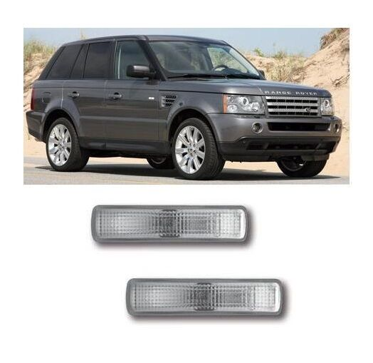Pair Of Clear Front Indicator Lights For Land Rover: Clear Side Repeaters Indicators 1 Pair To Fit RR Sport