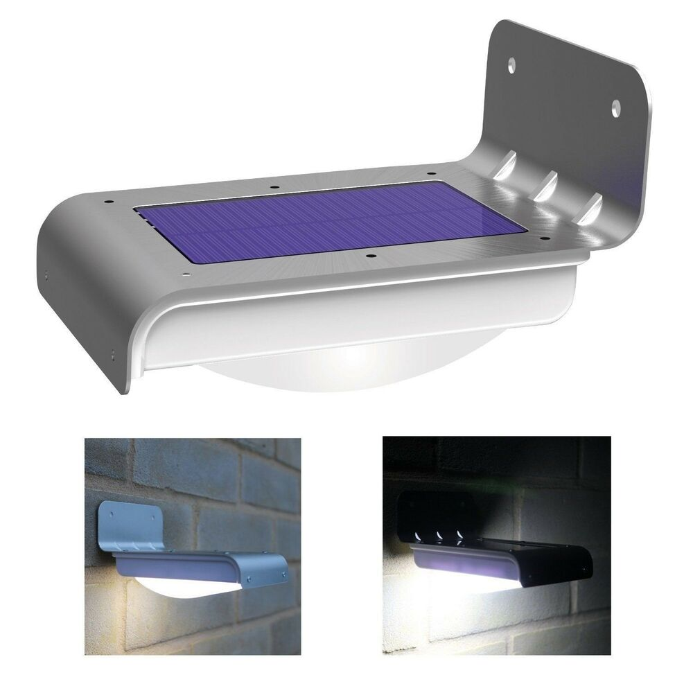 led wireless solar powered motion sensor light weatherproof ebay. Black Bedroom Furniture Sets. Home Design Ideas