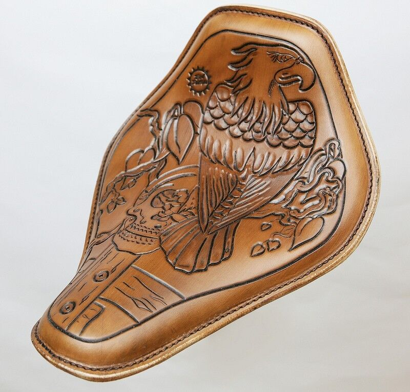 Eagle Hand Tooled Motorcycle Seat Harley Davidson Rich