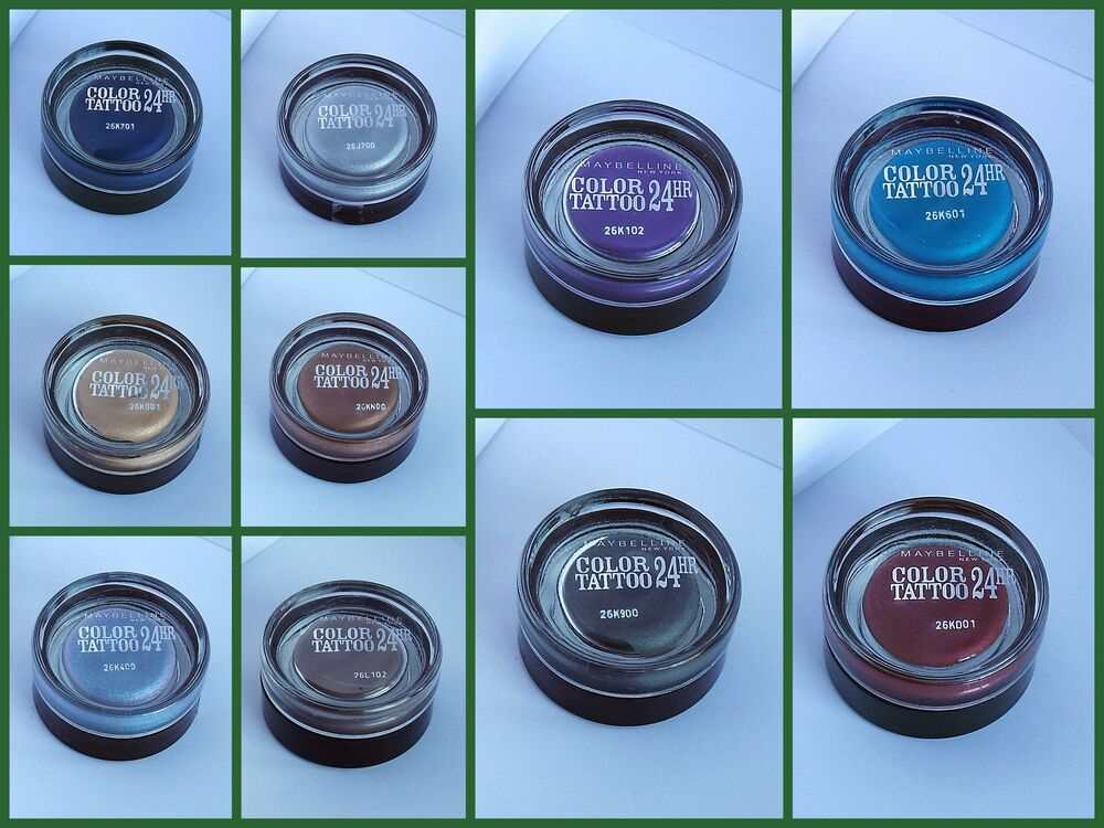 Maybelline color tattoo 24 hour gel cream eyeshadow new for Maybelline color tattoo gel eyeshadow