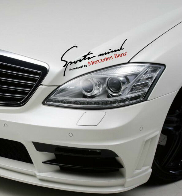 Sports mind powered by mercedes benz sport racing decal for Mercedes benz decal