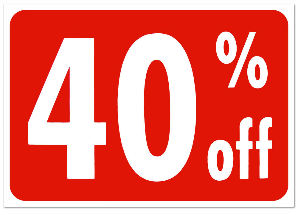 40  off retail store sale business discount promotion