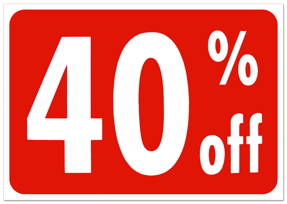 How to calculate 40 Percent-off