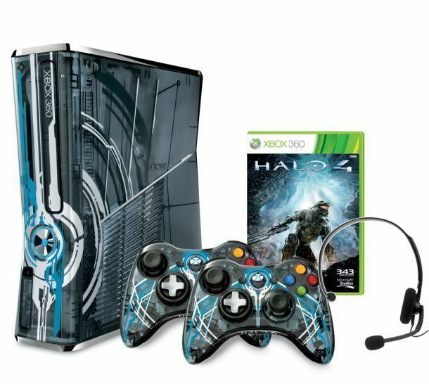 Xbox 360 320gb halo 4 limited edition console 2 controller aus new warranty ebay - The newest xbox 360 console ...