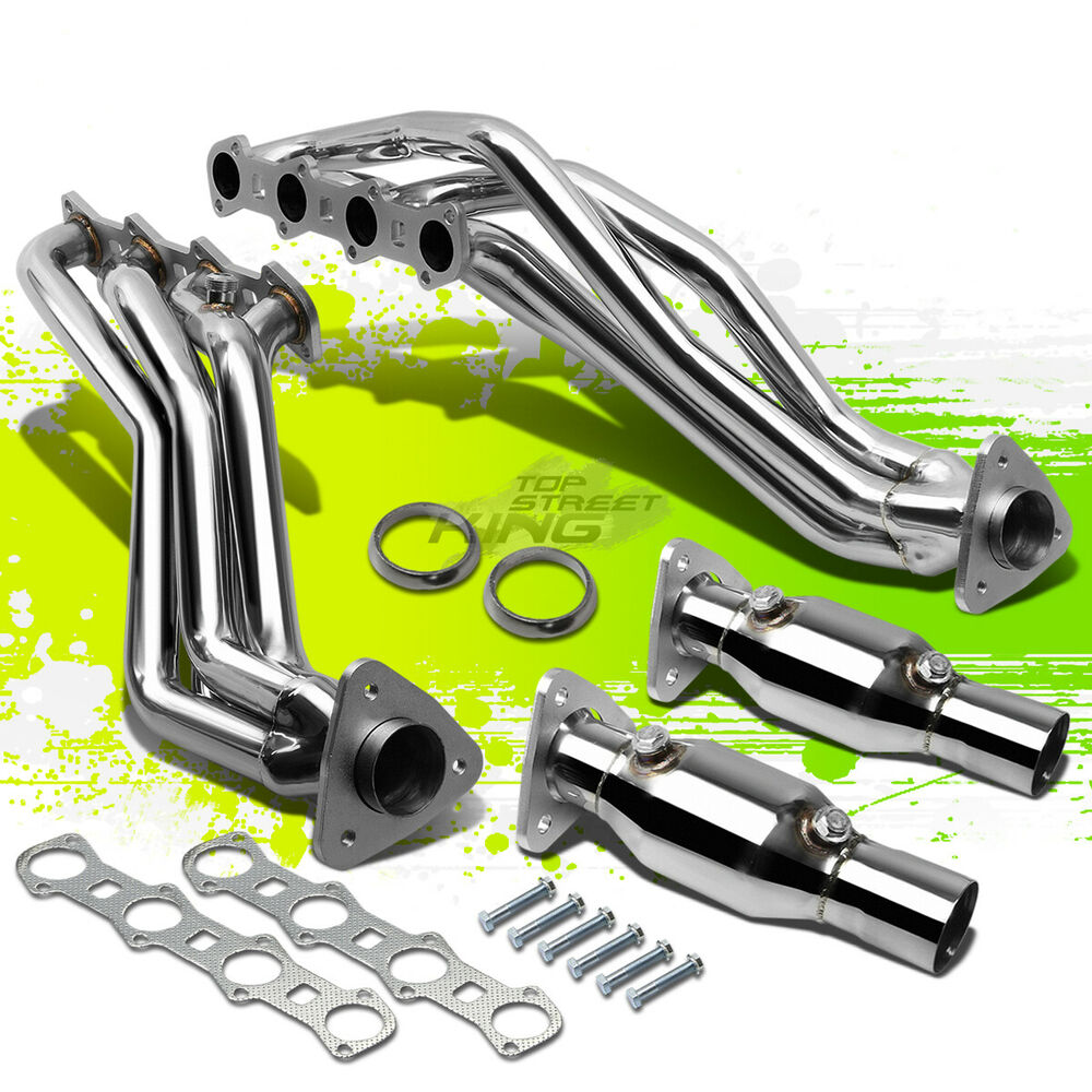 for 99 04 ford f150 pickup 5 4 v8 8 2 stainless steel performance exhaust header ebay. Black Bedroom Furniture Sets. Home Design Ideas