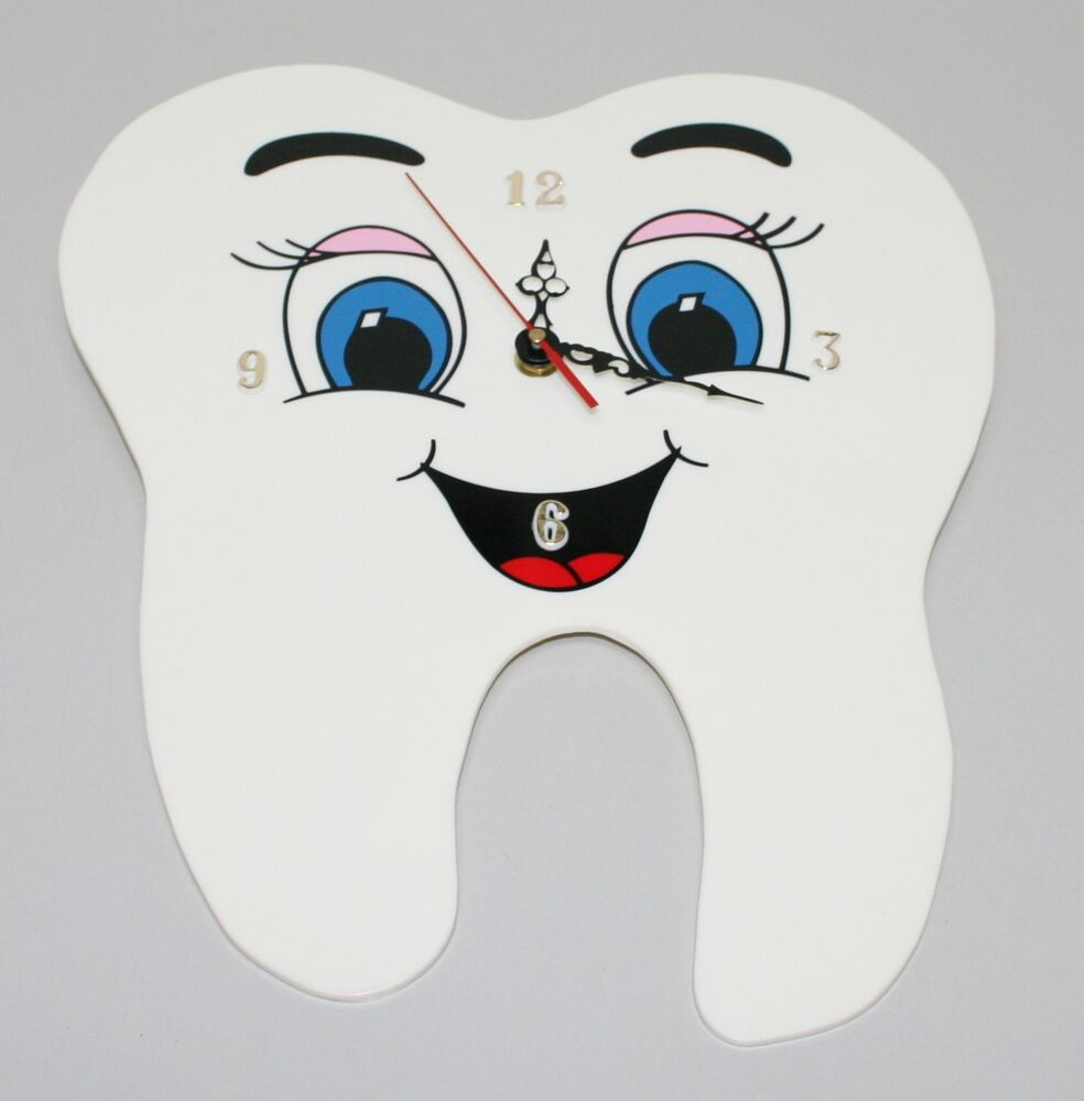 Dental Tooth Shaped Wall Clock Tooth Clock Dental Tooth