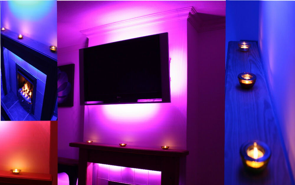 LED MOOD LIGHTING IDEAS TV BACK LIGHTS COLOUR CHANGING ...