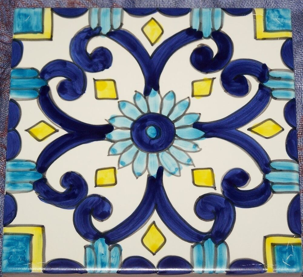 Brick tile 10x10 ceramic vietri tile majolica kitchen bathroom berg 85 ebay - Piastrelle bagno 10x10 ...