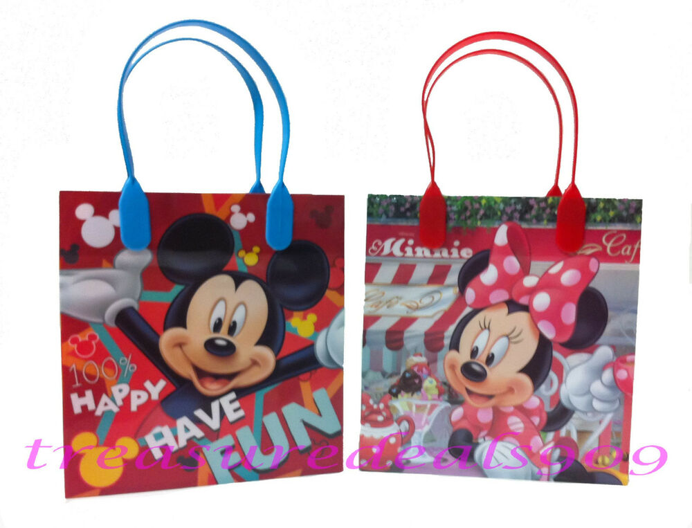 12 pcs disney minnie mickey mouse goodie gift bags