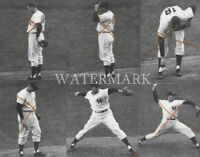 Don Larsen 1956 World Series Perfect Game in Action 8x10 Press Photo NY Yankees