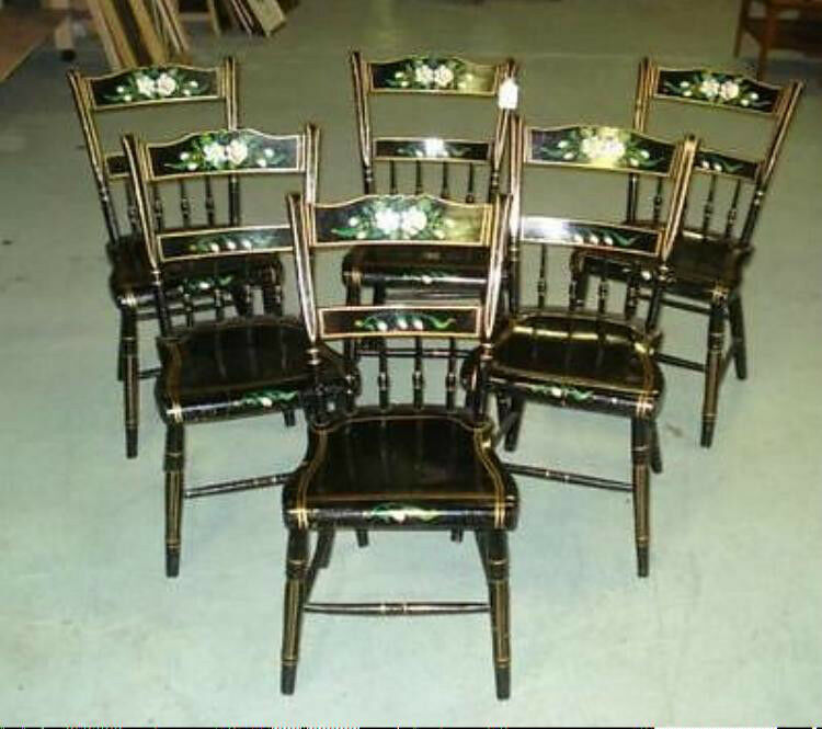 antique 6 chairs pennsylvania furniture vg ebay