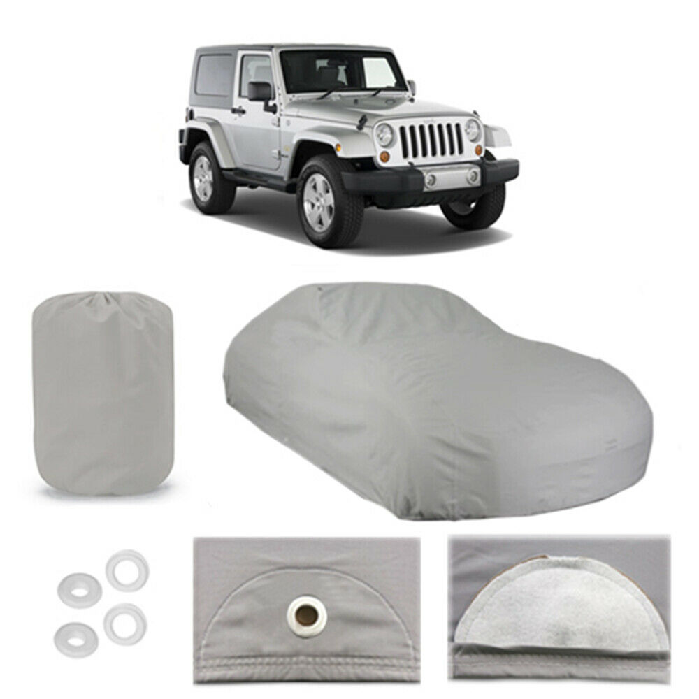 Jeep Wrangler Rain Cover >> Jeep Wrangler 4 Layer Car Cover Fitted Water Proof Outdoor Rain Snow Sun Dust | eBay