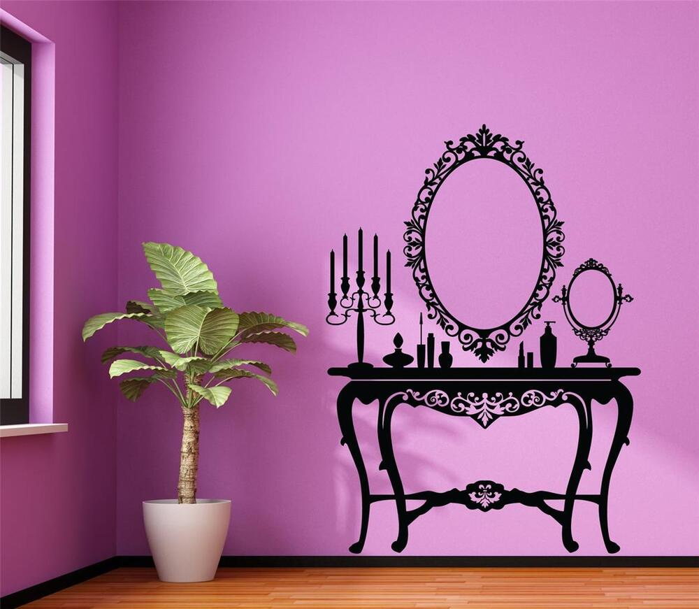 Wall art sticker decal vinyl vintage antique ladies for Adhesive wall decoration