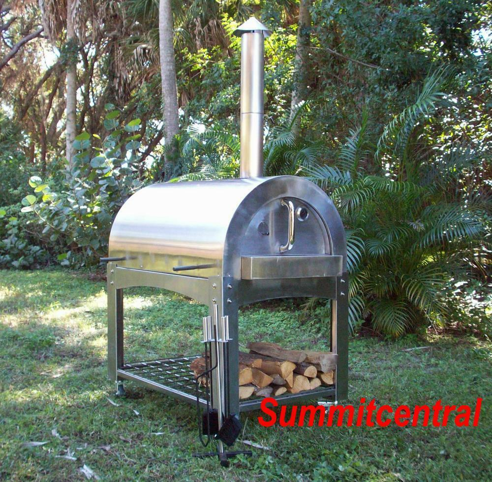 Wood Fired Pizza Oven Roaster Stainless Steel Commercial