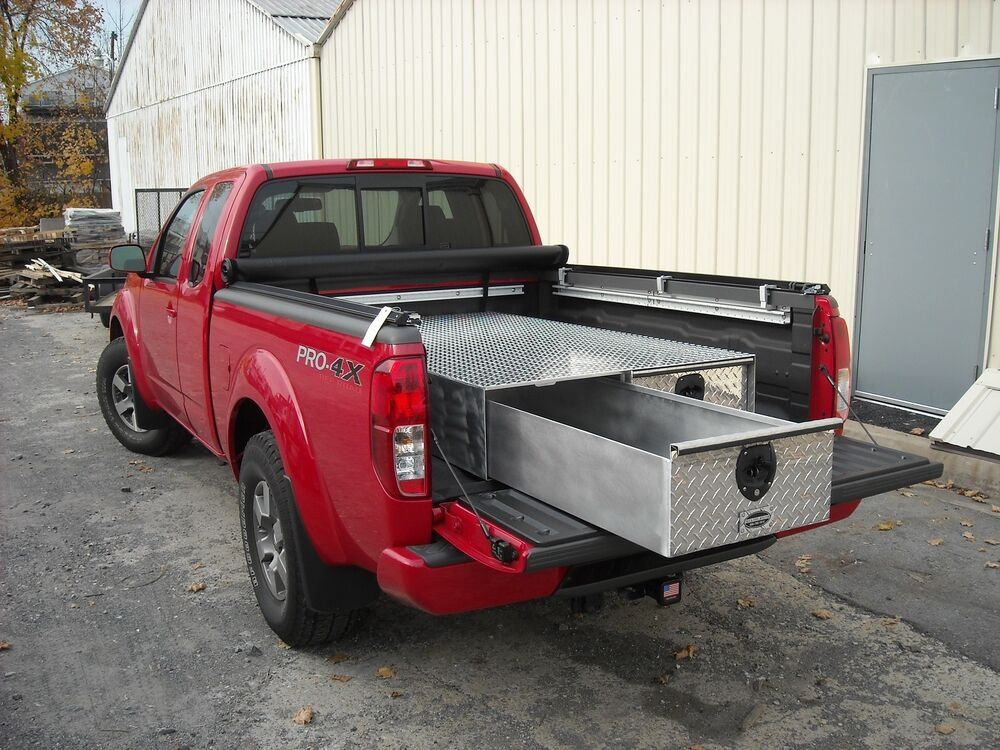 New aluminum 48 truck bed drawer storage tool box 48x40x10 11 16 with 2 drawers ebay - Truck bed box drawers ...