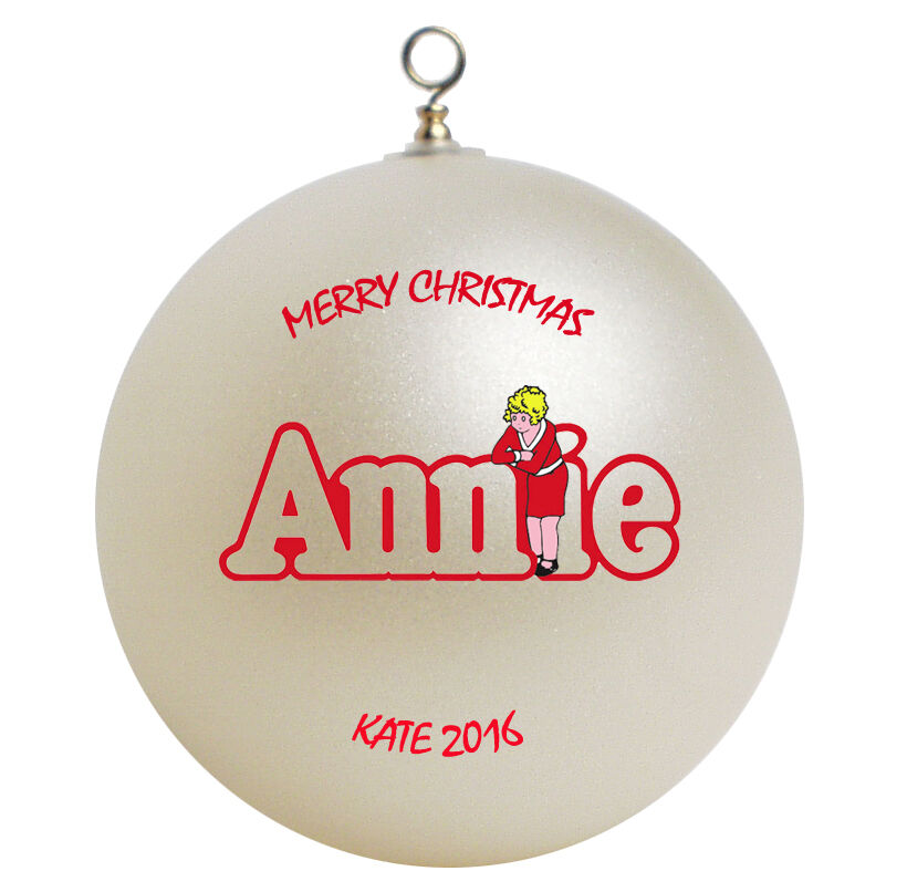 Little orphan annie personalized christmas ornament gift for Customized photo christmas ornaments