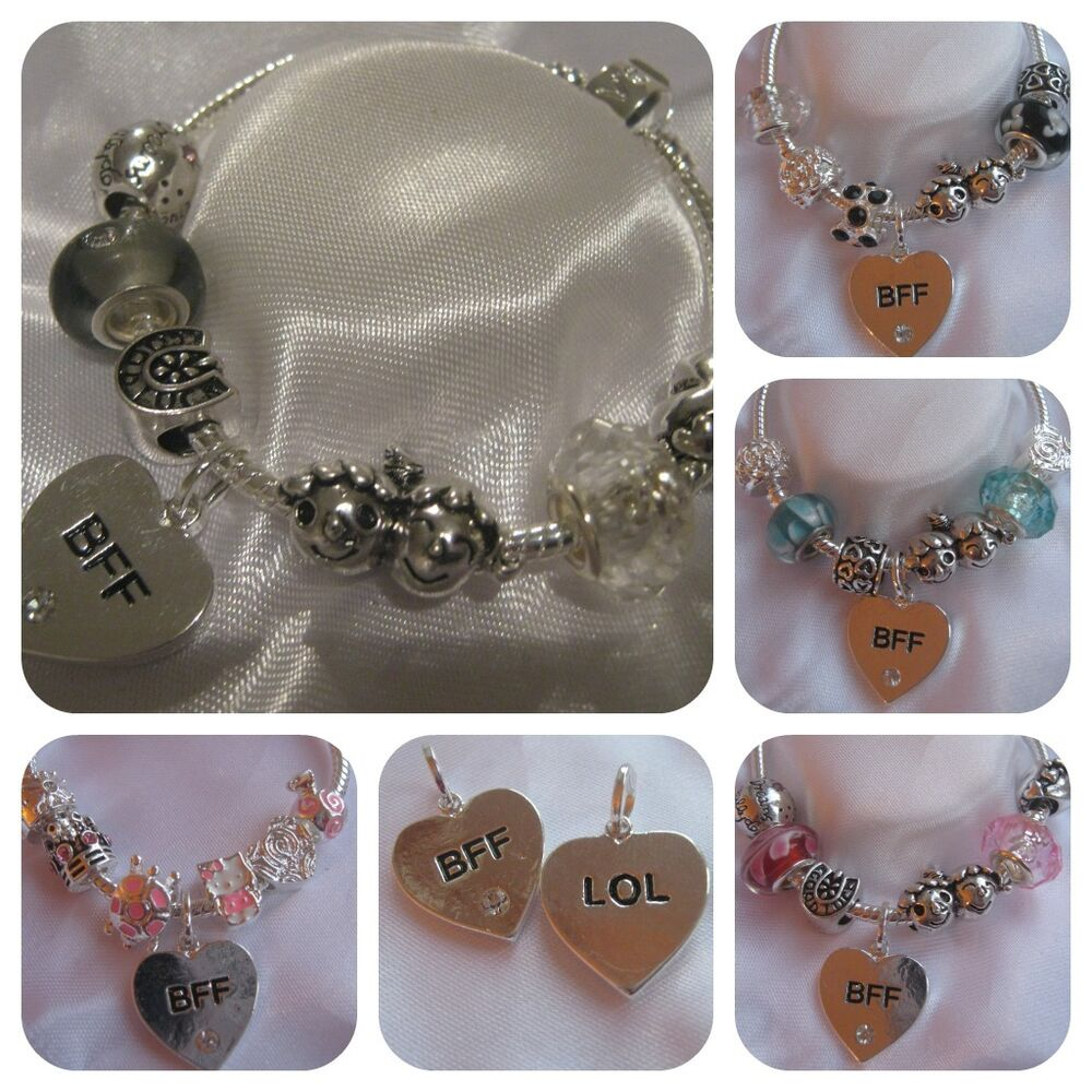 Best Friend Charm Bracelet: CHILDRENS KIDS LADIES CHARM BRACELET BFF BEST FRIENDS