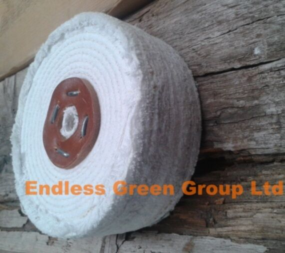 STITCHED COTTON Buffing Wheel - Firm 4 Section Polishing Mop 6