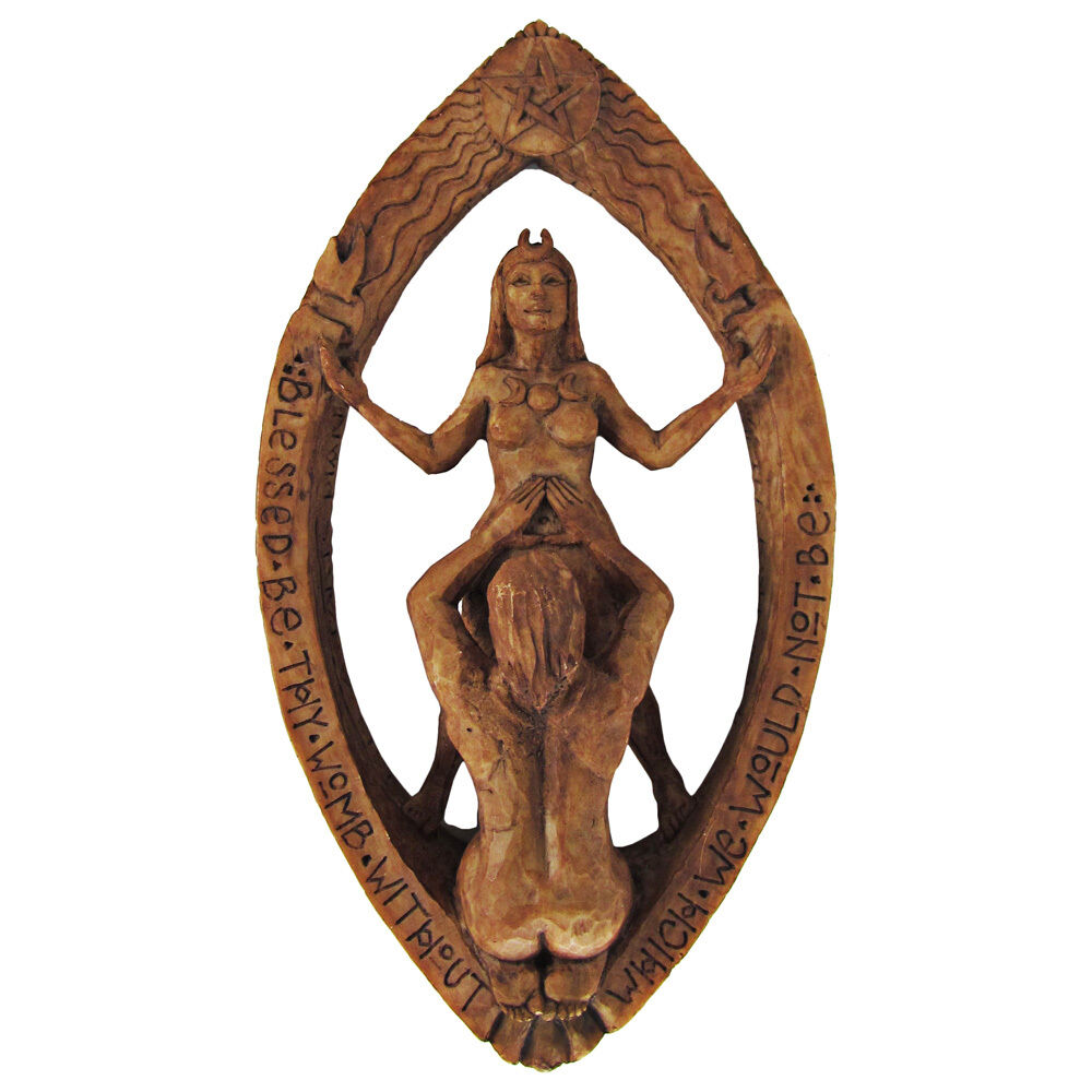 Drawing Down The Moon Wall Plaque Wood Finish Dryad