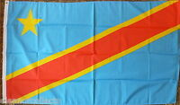 Democratic Republic of Congo Kinshasa Flag African Sports Trade Hotels 5x3 bnip