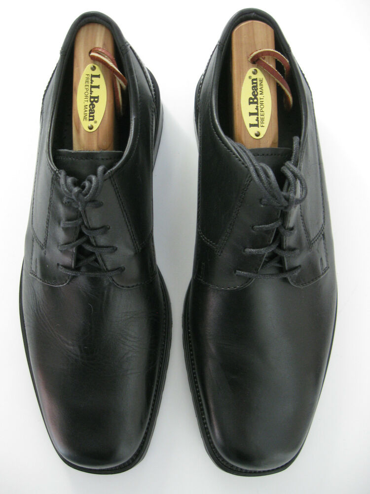 Borelli Mens Black Leather Comfort Oxfords Shoes Size 8 Ebay