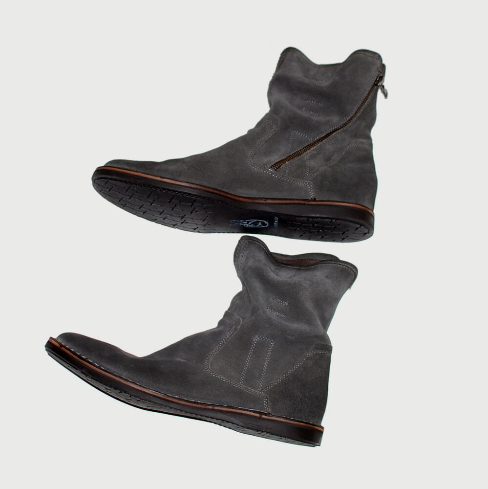 varvatos barrett suede slouch ankle zipper boots lead