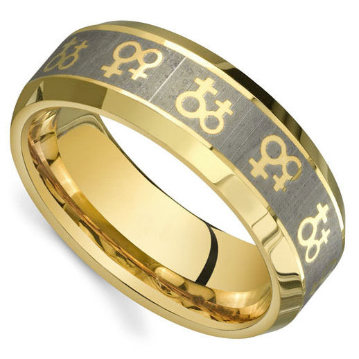 Pride Shack Gold Venus Female Symbols Ring Lesbian Pride