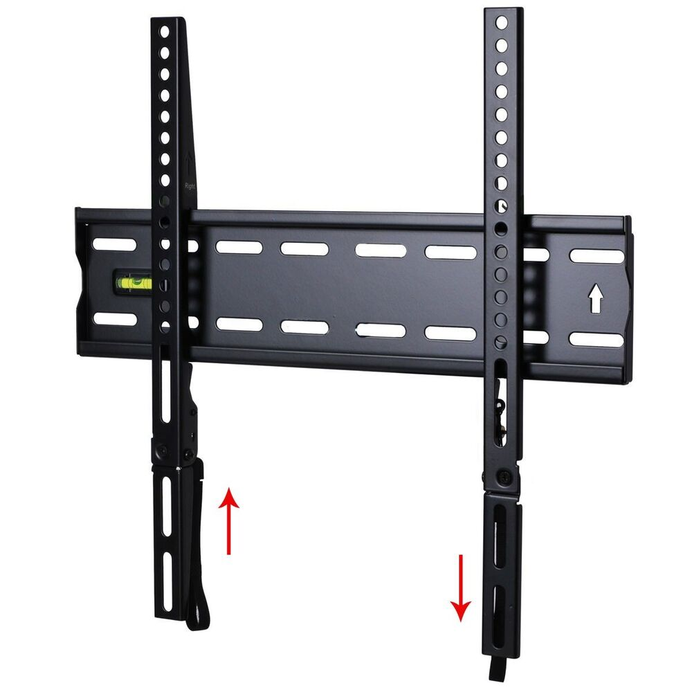 low profile tv wall mount for samsung 32 39 40 42 43 46 48 50 55 led uhd lcd 1rx ebay. Black Bedroom Furniture Sets. Home Design Ideas