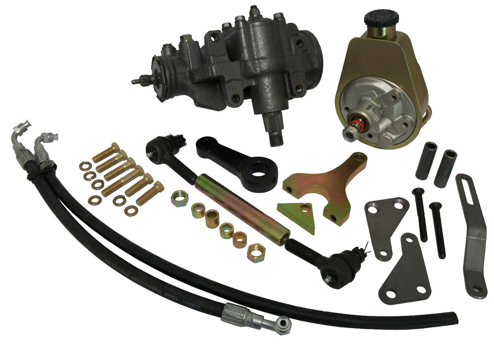 1947 55 Chevy Truck Power Steering Conversion Kit For V 8 Engines Ebay