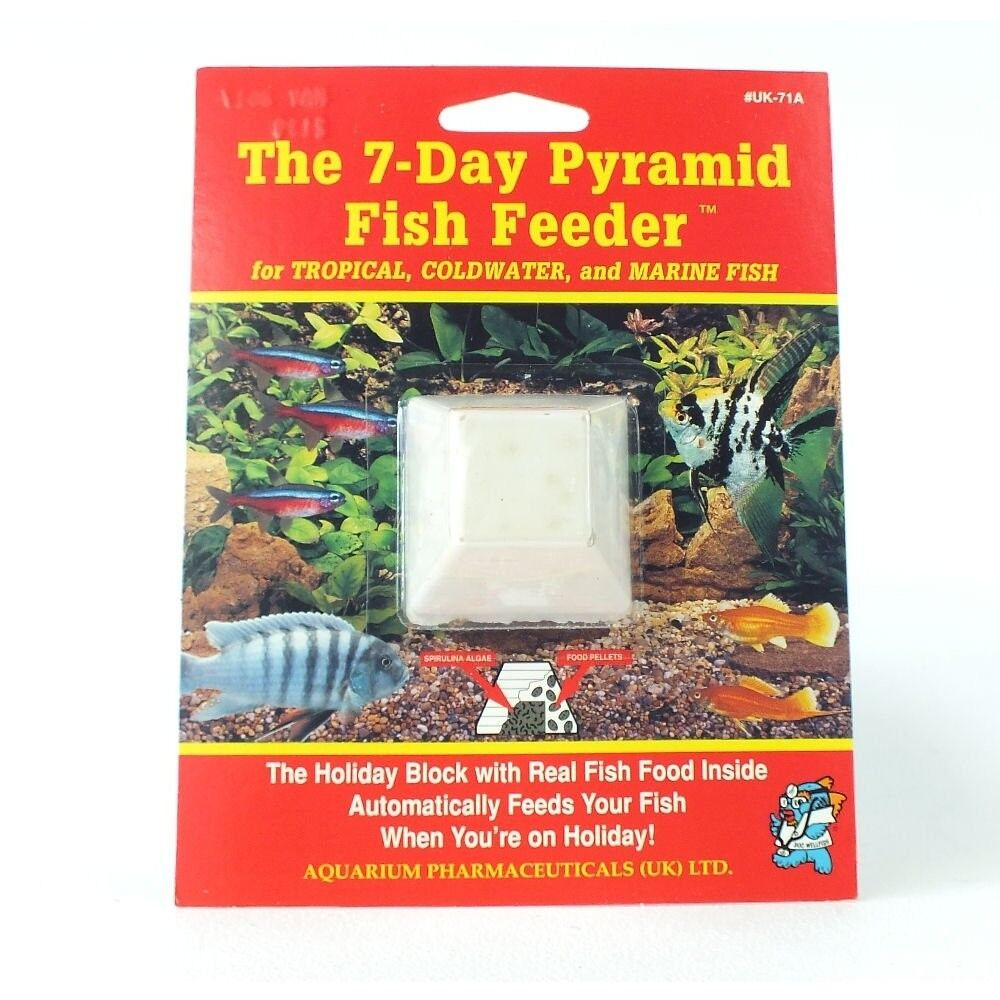 Api Pyramid 7 Day Fish Feeder Holiday Vacation Food For