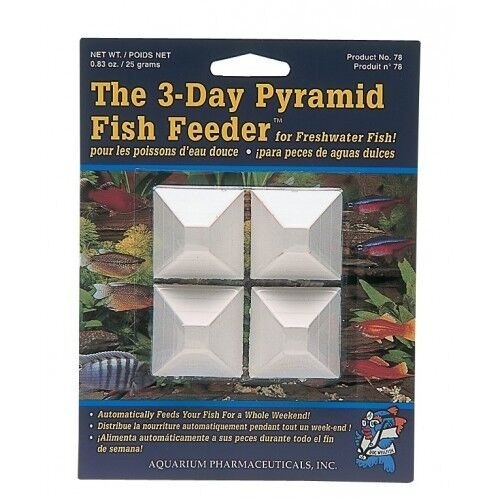 Api 3 day pyramid fish tank feeder food holiday weekend for Weekend fish feeder
